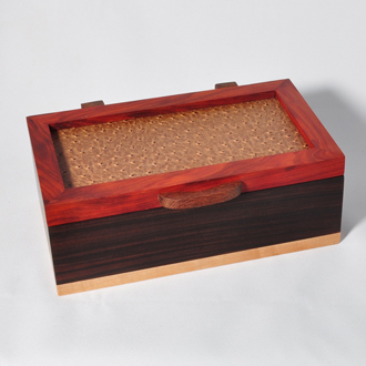Padauk Rosewood leather Lacewood