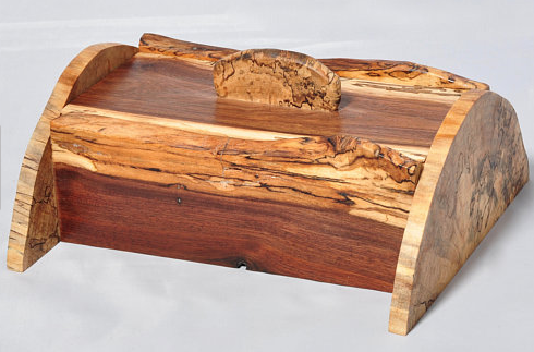 walnut spalted maple box
